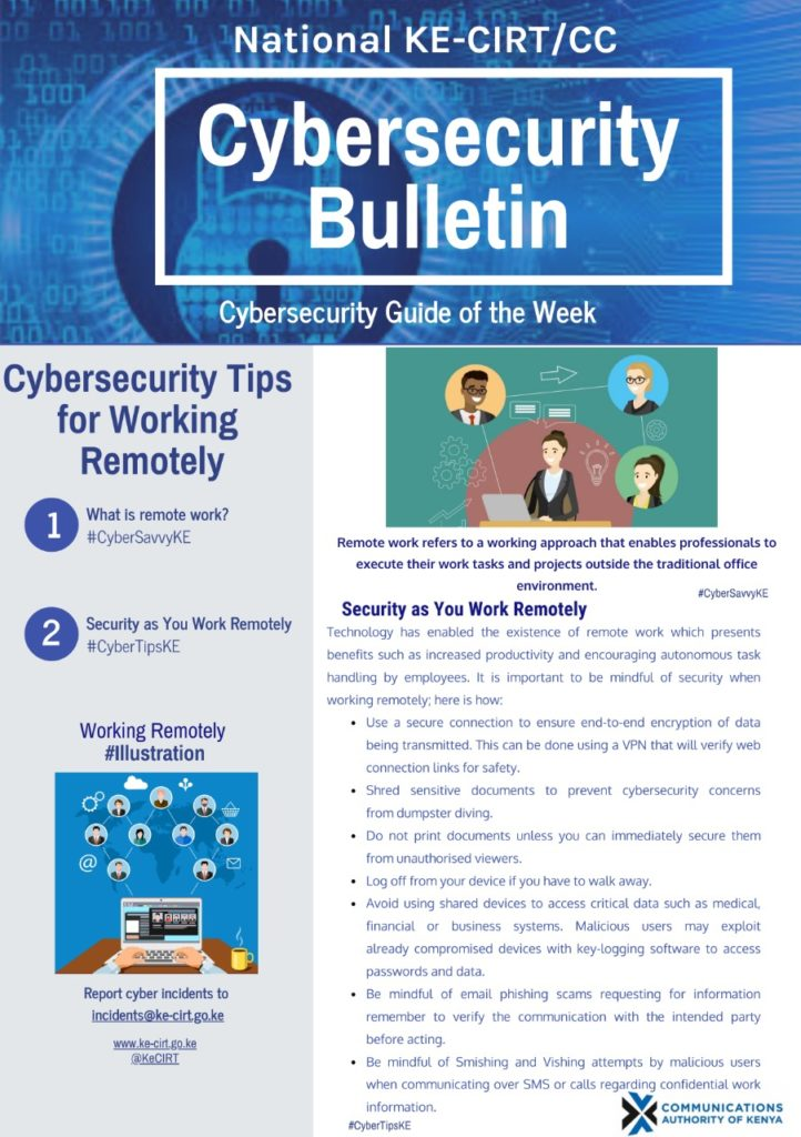 Cybersecurtiy Tips for Working Remotely