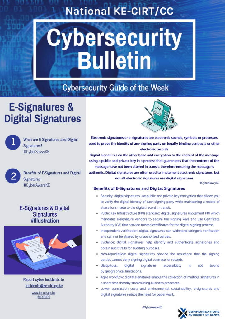E-Signatures & Digital Signatures