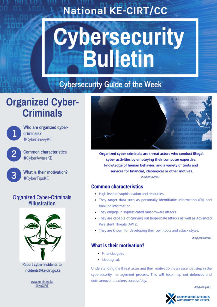 Organized Cyber-Criminals