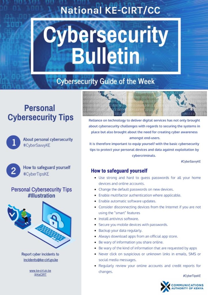 Personal Cybersecurity Tips