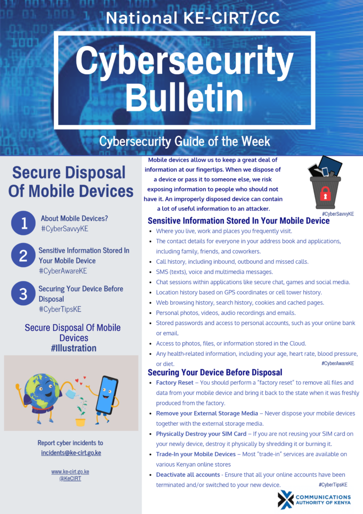 Secure Disposal of Mobile Devices