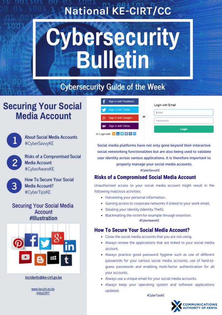 Securing your Social Media Account