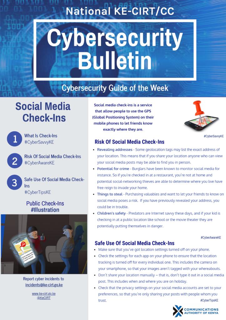Social Media Check-Ins
