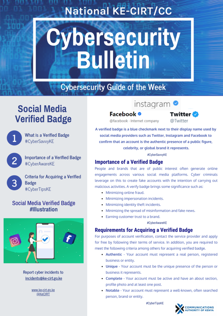 Social Media Verified Badge